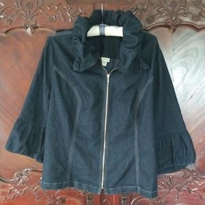 Venezia sz 24 denim jacket bell sleeve jean blue